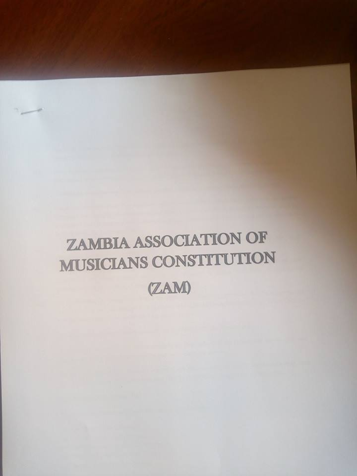 Zambia Association of Musicians Constitution..(ZAM)